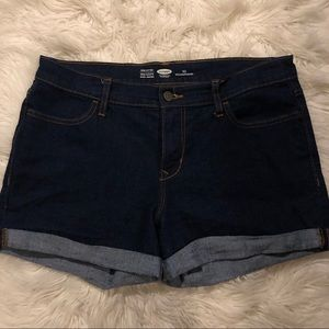 Cuffed jean shorts. Dark wash from Old Navy Sz 10